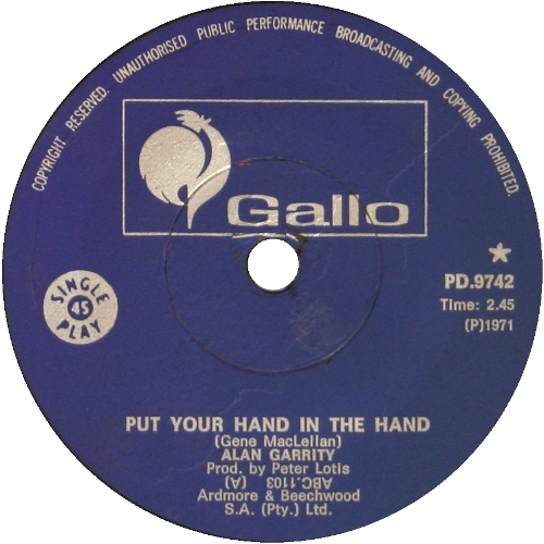 Put Your Hand In The Hand - Alan Garrity