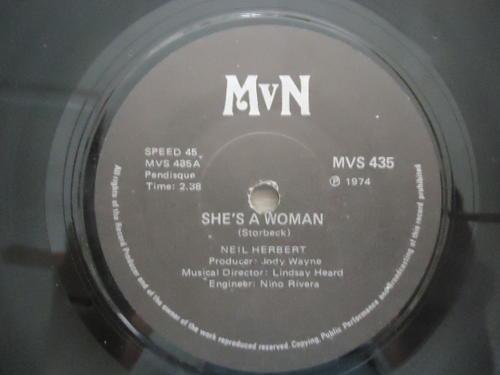 She's A Woman - Neil Herbert