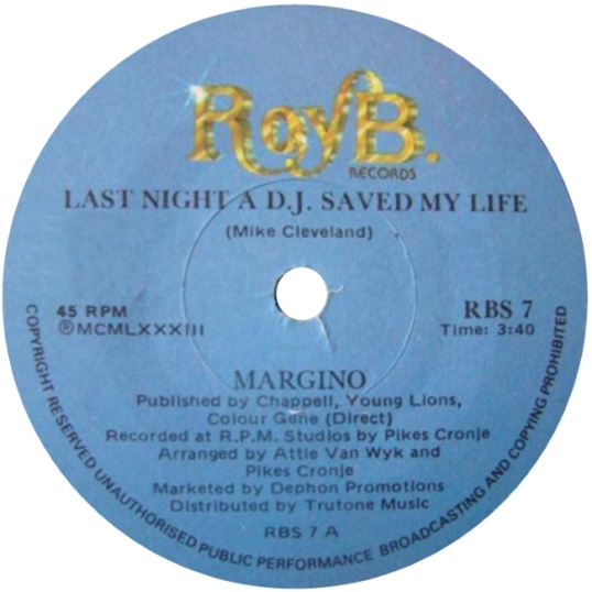 Last Night A DJ Saved My Life - Margino