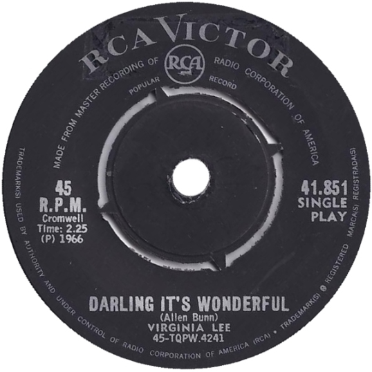 Darling It's Wonderful – Virginia Lee