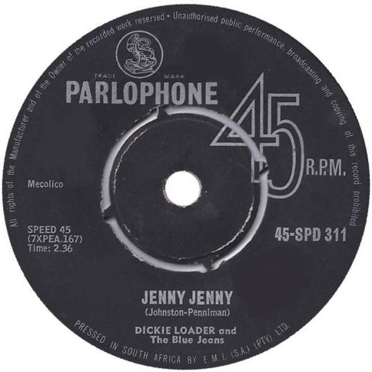 Jenny Jenny – Dickie Loader